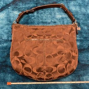 Coach Signature Chocolate Brown Shoulder Bag